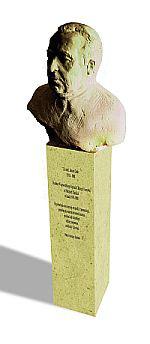 pomnik z popiersiem J.Daaba